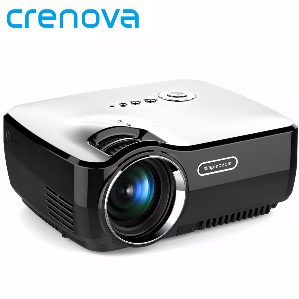 Crenova GP70 LCD Portable Projector AV IN/SD/USB/VGA/HDMI Home Theater 800*480 1400 Lumens Multimedia Beamer LED Mini Projector gp802a mini portable led projector 200 lumens 480 320 pixels contrast ratio 600 1 with hdmi vga usb av tv sd port home theater
