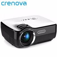 Crenova gp70 ЖК-дисплей Портативный проектор AV в/SD/USB/VGA/HDMI домашний Театр 800*480 1400 люмен мультимедиа Бимер привело мини-проектор