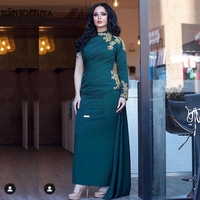New Arrival One shoulder Long evening dresses 2020 Abendkleider abiye Formal dress Party evening gown muslim evening dress