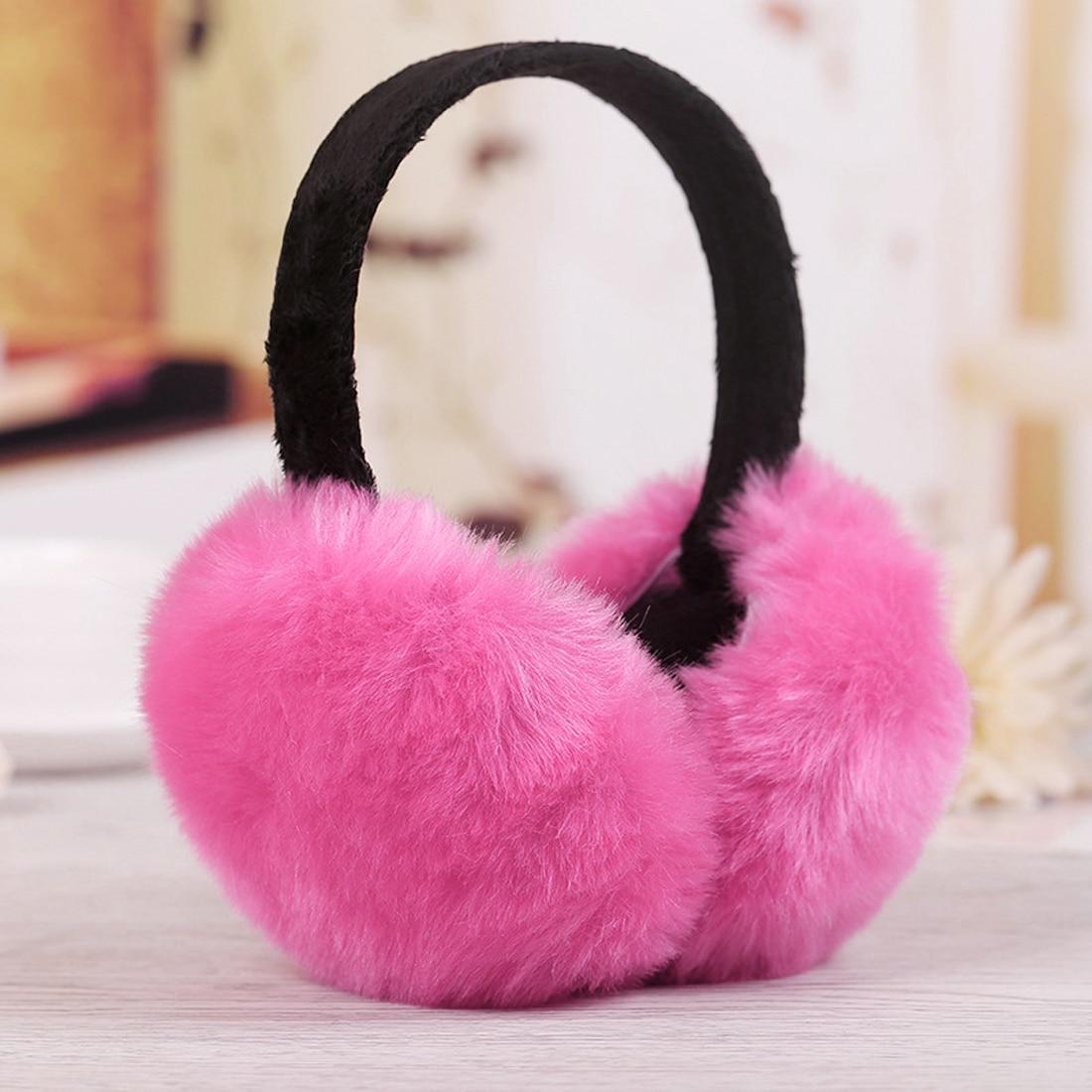 New Winter Women Men Earmuffs Lovers Ear Warmer Imitation Rabbit Plush Plain Teenage Earmuffs Student Girl Ear Muffs