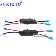 SUKIOTO 2 PCS HID Warnung Canceller Decoder Auto Licht Runde Xenon Ballast Decoder Für 35 W 55 W Xenon H1 h3 H7 H11 HB3 HB4 Birne Kit