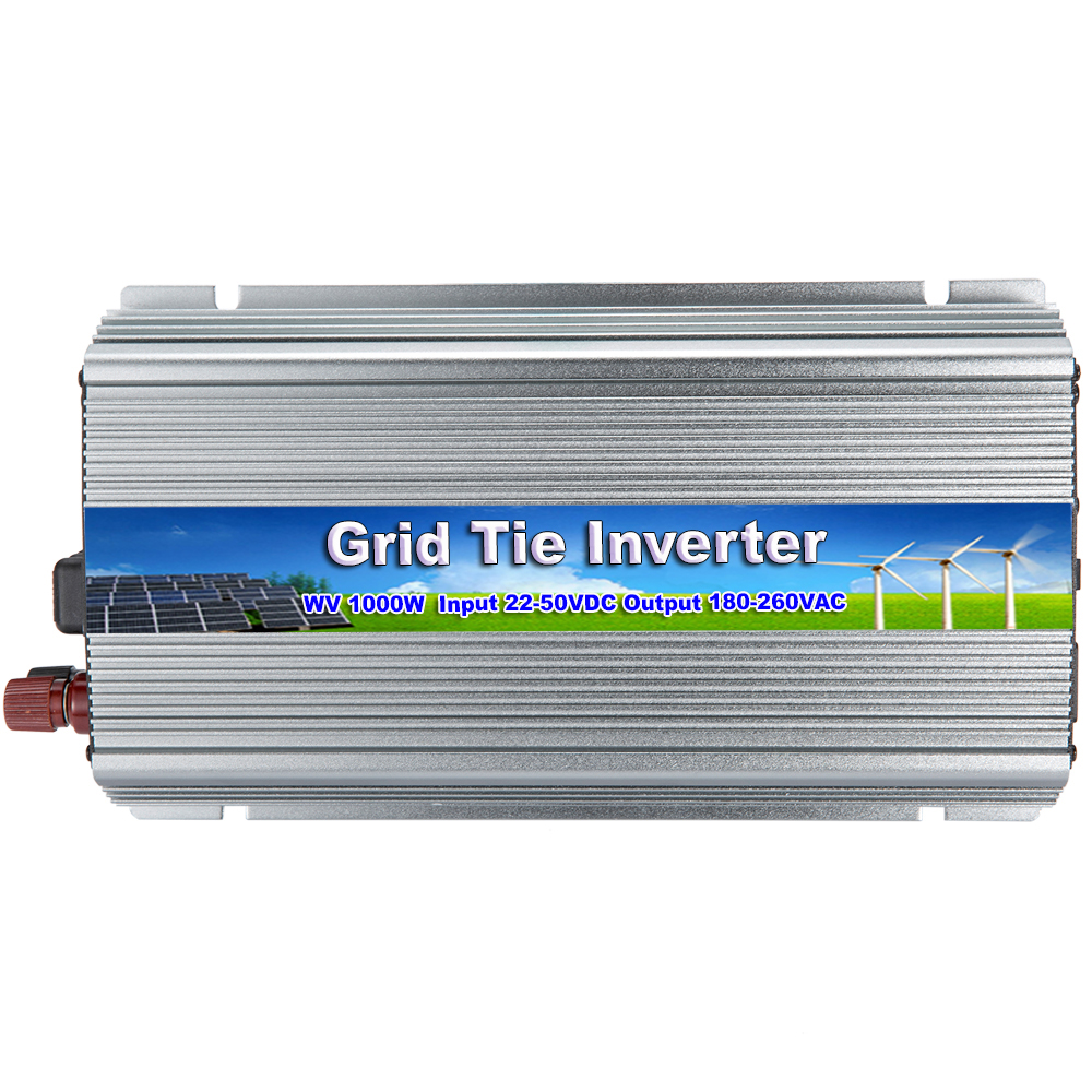 MAYLAR@ 22-50Vdc 1000W Solar Pure Sine Wave On Grid Tie Micro Inverter AC 190-260V For 24V/30V/36V Solar Energy Home System solar power on grid tie mini 300w inverter with mppt funciton dc 10 8 30v input to ac output no extra shipping fee