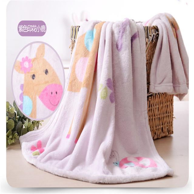 2017 Cobertor Do Bebê Recém-nascido Infantil Verão Crianças Flanela Receber Cobertor Macio Cobertor Receber Pacote Camisola Qualidade Superior