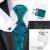 B-1045 Hot Mens Gravatas De Seda Paisley Verde Saco Caixa de Presente Conjuntos de Laços Para Homens Gravata Lenço Abotoaduras Casamento Negócios