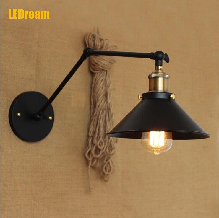 American rural area is rural contracted style dumb black lamp bedside corridor aisle warehouse RH long arm bracket light bar