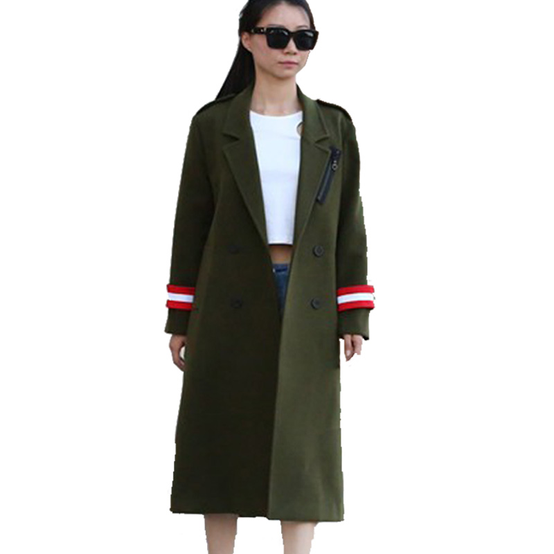 Popular Green Wool Coats Women-Buy Cheap Green Wool Coats Women ...