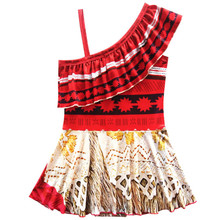 Girl Dress Cartoon Moana biquine Bathing Suits kids beach swim wear Baby Girl swimsuits one piece children bikinis clothes maio