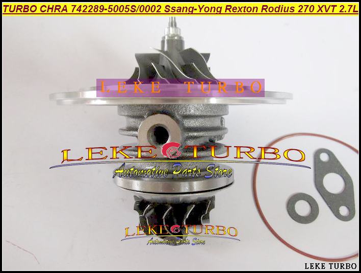 Turbo Cartridge CHRA GT2056S 742289 742289-5001S 742289-0003 A6650901580 A6650900480 For Ssang-Yong Rexton Rodius 270 XVT D27DT gt2556s 711736 711736 0003 711736 0010 711736 0016 711736 0026 2674a226 2674a227 turbo for perkin massey 5455 4 4l 420d it