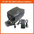 1000W 52V 20AH EBike литиевая батарея 51 8 V 23AH велосипед bateria akku NCR18650PF с BMS