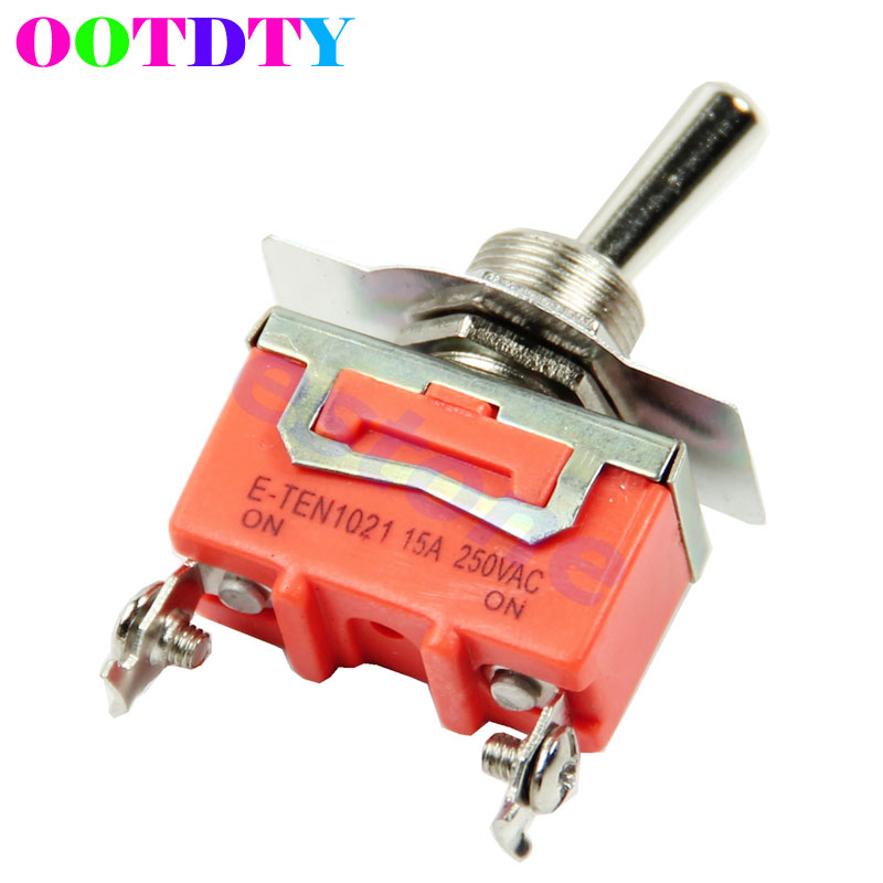 High Quality New 1pc 15A 250V SPST 2 Terminal ON OFF Toggle Switch APR24_0 g126y 2pcs red led light 25 31mm spst 4pin on off boat rocker switch 16a 250v 20a 125v car dashboard home high quality cheaper
