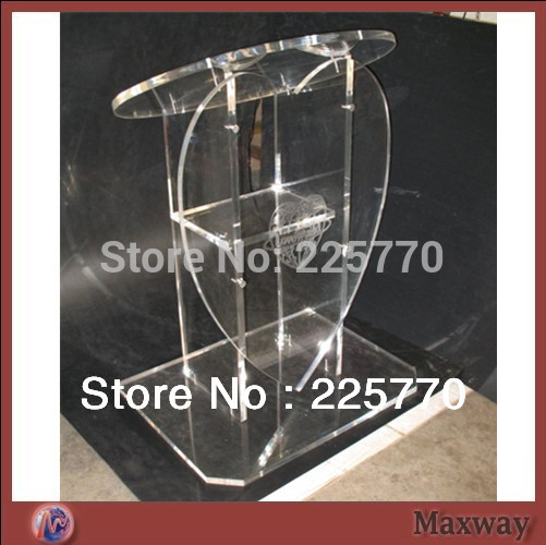 Acrylic Heart-shaped Lectern Acrylic Church Lectern Perspex Church Lectern Heart Shaped Church Lectern