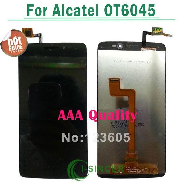 "Aaa calidad 5.5 ""lcd display digitalizador para alcatel one touch idol 3 6045 ot6045 lcd pantalla táctil assemblely negras"