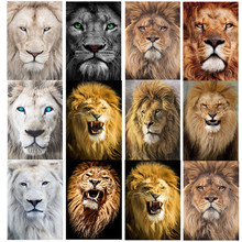 DIY diamond painting animal lion combination full round cross stitch embroidery home decoration