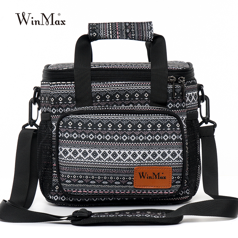 Winmax New Office Lunch Bag For Women Functional Insulated Thermal Box Food Fresh Keep Cold Ice Men Travel Cooler Lunch Bag Tote