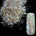Dazzling Radiancy Transparents Sequins Dust DIY Nail Glitter Decorations Nail Art Designs Gold Acrylic UV Mix Glitter Powder 281