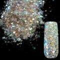 Deslumbrante Resplandor Transparentes Lentejuelas Polvo DIY Decoraciones Del Clavo Del Brillo Del Arte Del Clavo ULTRAVIOLETA de Acrílico de La Mezcla Diseña Glitter Powder 281