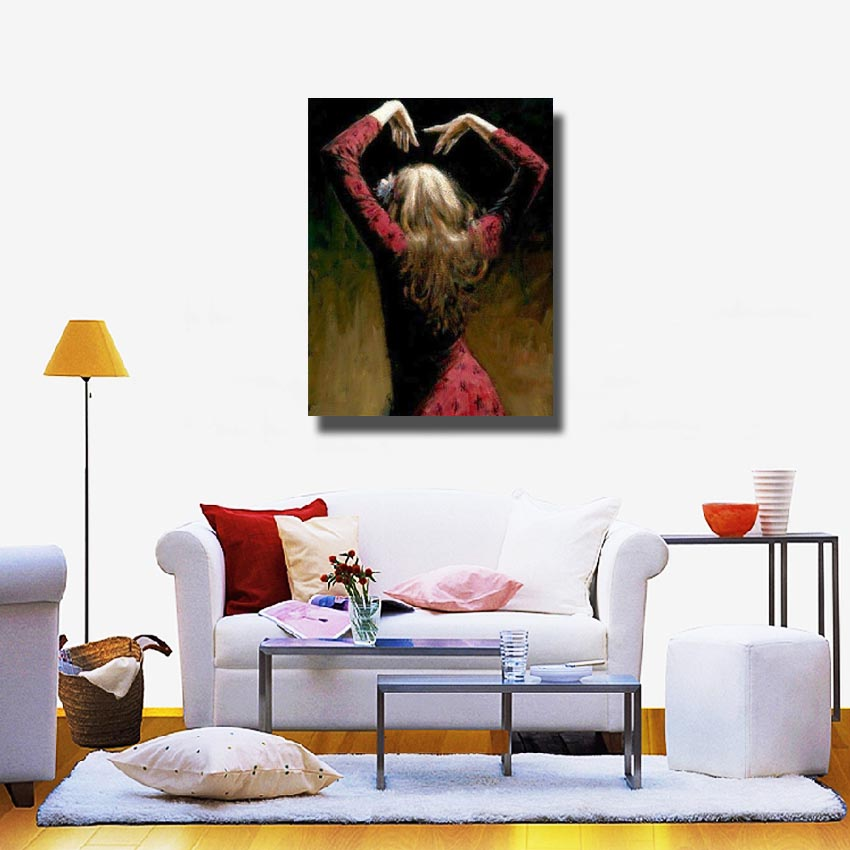 Hand Drawing Large Size Wall Decor Spain Dancing Dancer Figure Oil Paintings Ofr Home Sense Decoration In Painting Calligraphy From Garden On