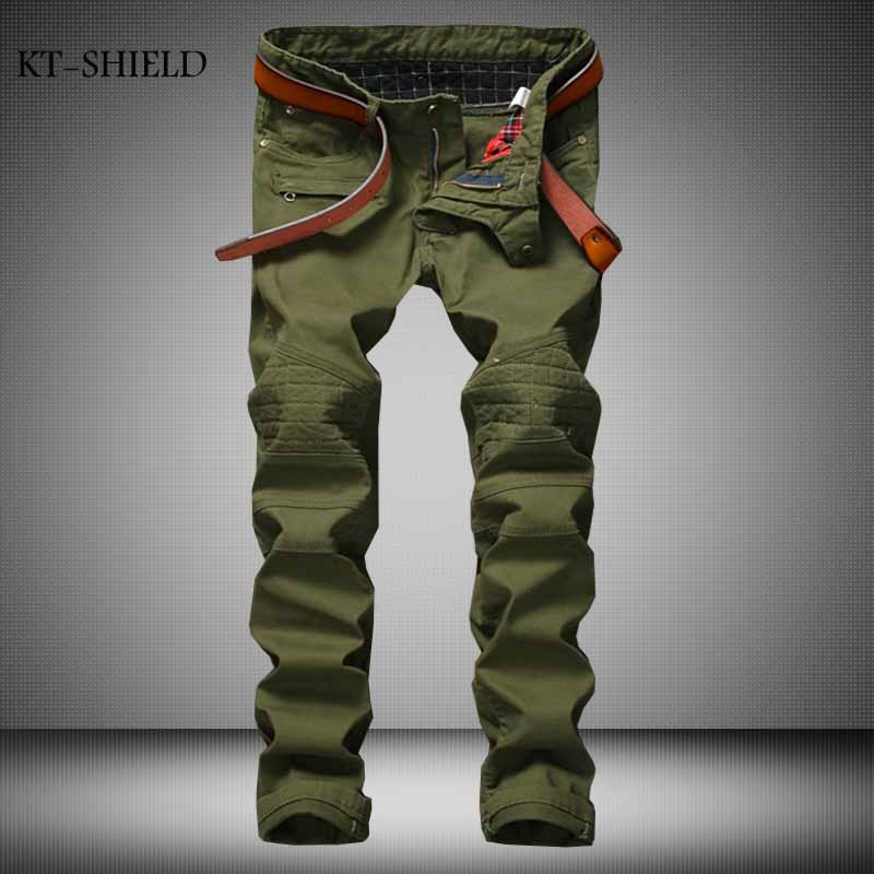 New Military Skinny Jeans New Men s Camouflage Jeans Motocycle Camo Slim Fit Designer Biker Jeans