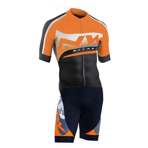 Men Pro NW Team Triathlon Suit Cycling Clothing Skinsuit Jumpsuit Maillot Cycling Jersey Ropa Ciclismo Bike Sports Clothing Karachi