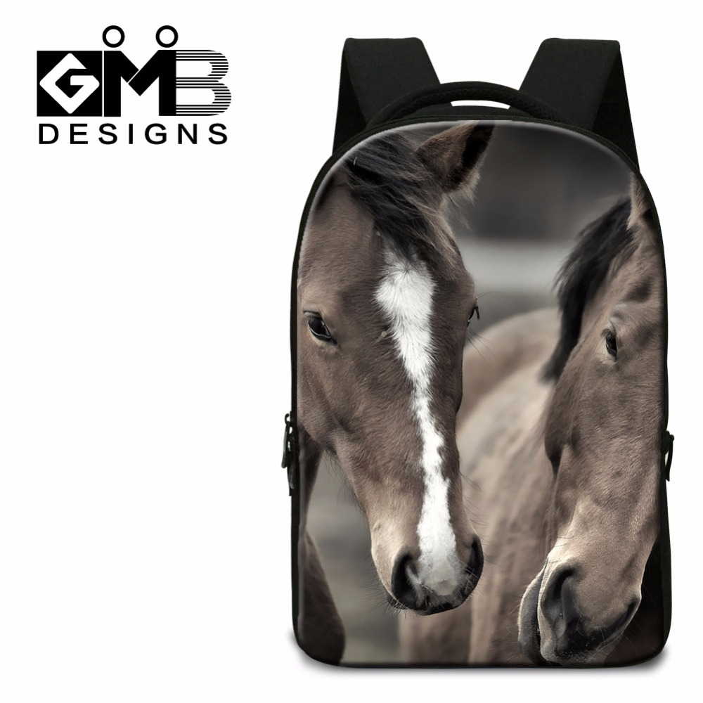 Fashion School Backpacks for Boys,Horse Printed Middle School Bags,Cool College laptop back pack,bookbag for Teenagers Mochila