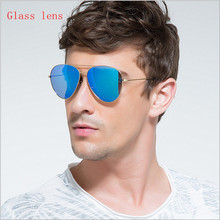 Glass lens fashion men  Rayed Aviation Sunglasses women Brand Designer Sun Glases  a variety of colors  Lunette Hombre rb 3026