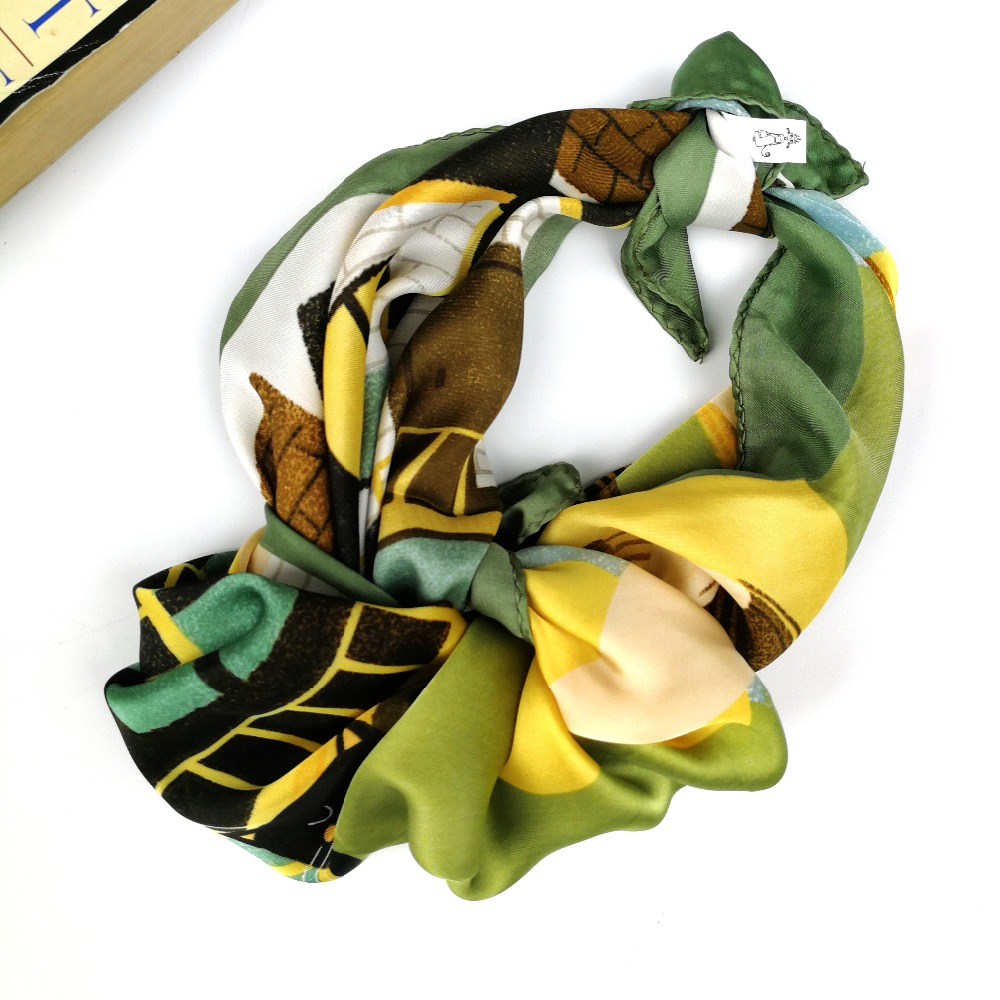 27017078fae Men Guitar Scarf Women Satin Silk 55 55cm Square Bandana Green Scarves  Headband Hairband Neck Head Hat Bag Scarf-in Women s Scarves from Apparel  Accessories ...