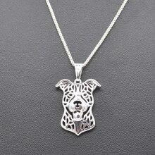 Beatiful Silver Necklace of Pitbull
