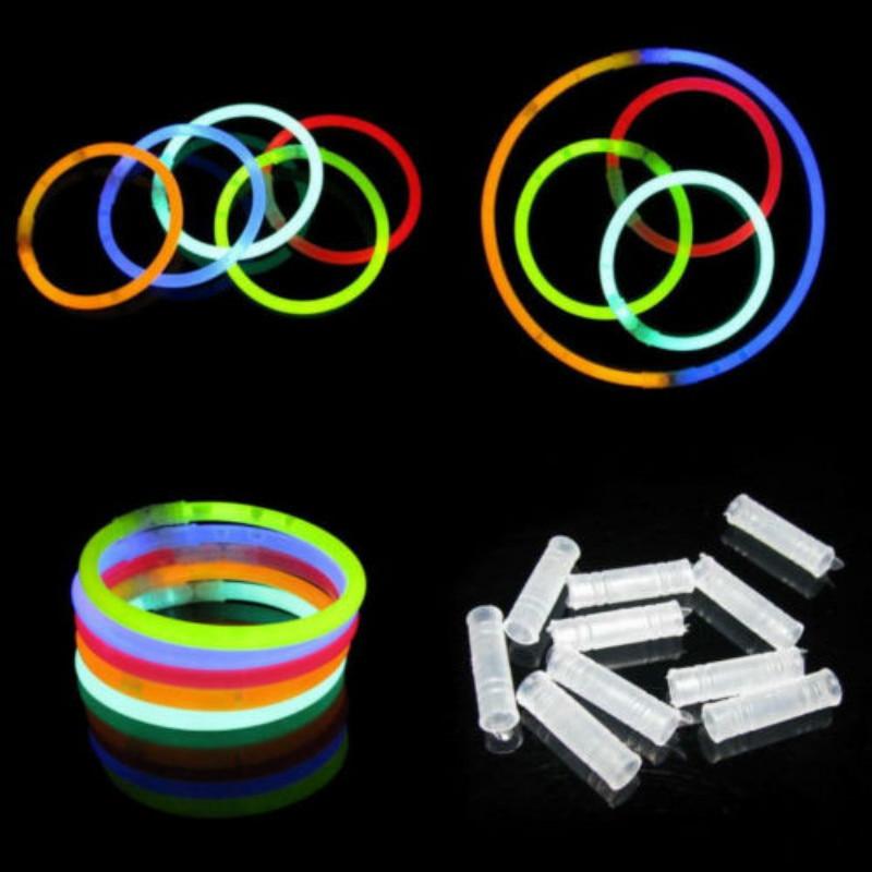 50Pcs/lot Multi Color Glow Stick Party Supplies Fluorescent Bracelets Necklace Birthday Festive Party Light Sticks For Christmas
