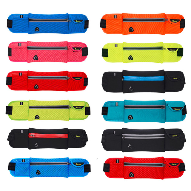 [10*40cm] Quality Multifunction Running Waist Bag Sport Packs For Music With Headset Hole-Fits Smartphones Sports Bags