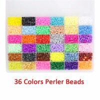 36 Colors 5mm Perler Beads Hama bead Craft DIY Handmaking Fuse 10000 pcs Creative Intelligent Educational toy for Kids Children