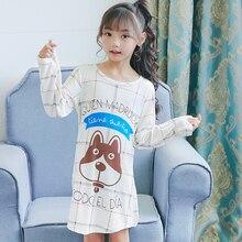 new Children's Clothing Autumn nightdress Girls Baby Pajamas Cotton Princess Nightgown Home Cltohing Girl Sleepwear Nightgown