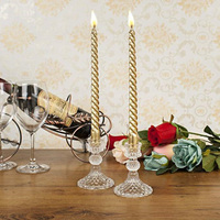 Crystal candle stand gold candle wedding party decor candle holders home decoration candle cup
