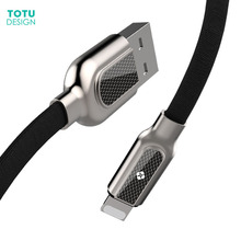 TOTU mobile phone line for Air iPad Mini 8-pin charger data cable for iphone 5 8 7 6 6 s Plus 5C 2.4A fast charging cable