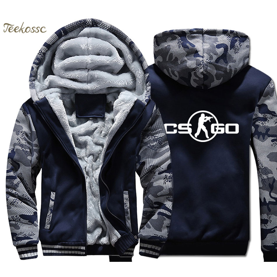New Brand Game Hoodie Men Hip Hop Hooded Sweatshirt Coat 2018 Winter Warm Fleece Thick High Quality Men's Jacket Plus Size 4XL
