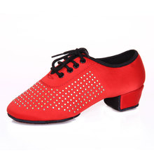 Shoes women sneakers Latin Dance Female Latin dance shoes diamond Latin dance stage ballroom dancing shoes Autumn and winter