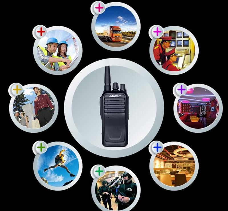 Image 4 - VHF ham radio JP 1000 walkie talkie powerful 5600mAh battery outdoor long distance hunting walkie talkie 10km-in Walkie Talkie from Cellphones & Telecommunications