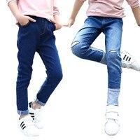 2018 Spring Baby Girls Pants Teenage Girls Pencil Pants For Girls Jeans Denim Pants School Children