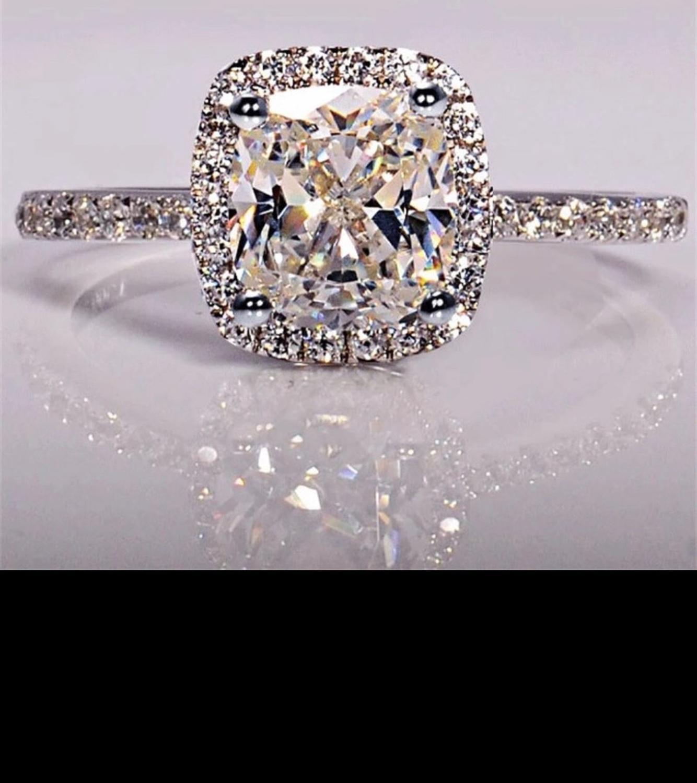 Nous avons beaucoup de styles que nous aimons personnaliser. Bague en diamant Moissanite de mariage 0.5-5 carats véritable or blanc 18 K 750