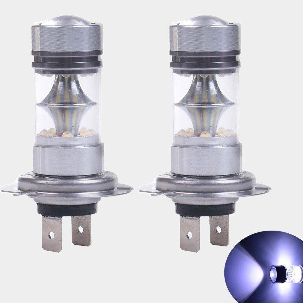 H7 LED Car Light Bulb 100W 12V Projector Lens HID White LEDs Bulbs Fog Lamps Tail Driving DRL Daytime Running Lights Auto Lamp шлифовальная машина aeg bews 18 125x 0 431998
