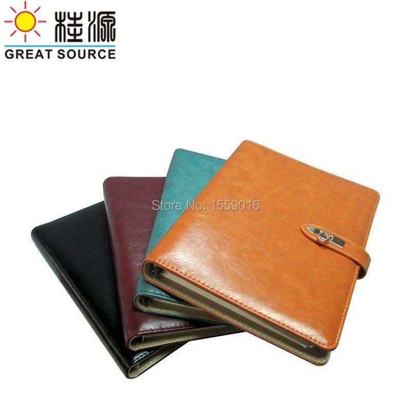 A5 Pu Leather Ring Binder Notebook 2016 Agenda 2016 Notepad 2015 Paper Planner 2015 Organizer