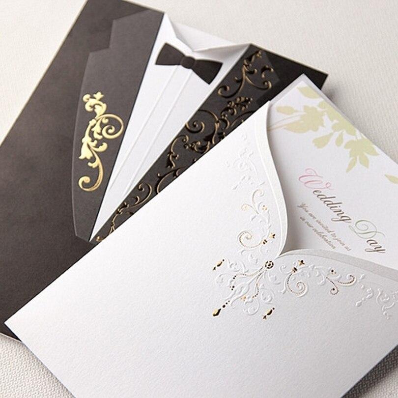 black and white invitation card design