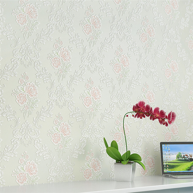 Luxury non-woven wallpaper 3d European damascus pattern paper mural bedroom living room TV backdrop wall covering decor