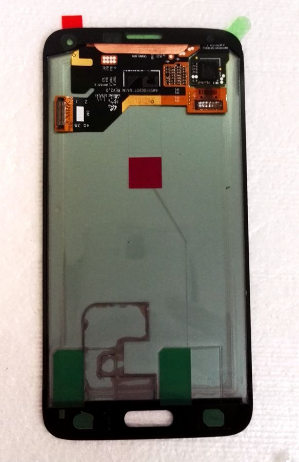 Super Amoled For Samsung Galaxy S5 G900 G900F G900Y <font><b>G900H</b></font> G900M Amoled LCD With touch glass Full set for repair <font><b>display</b></font> image