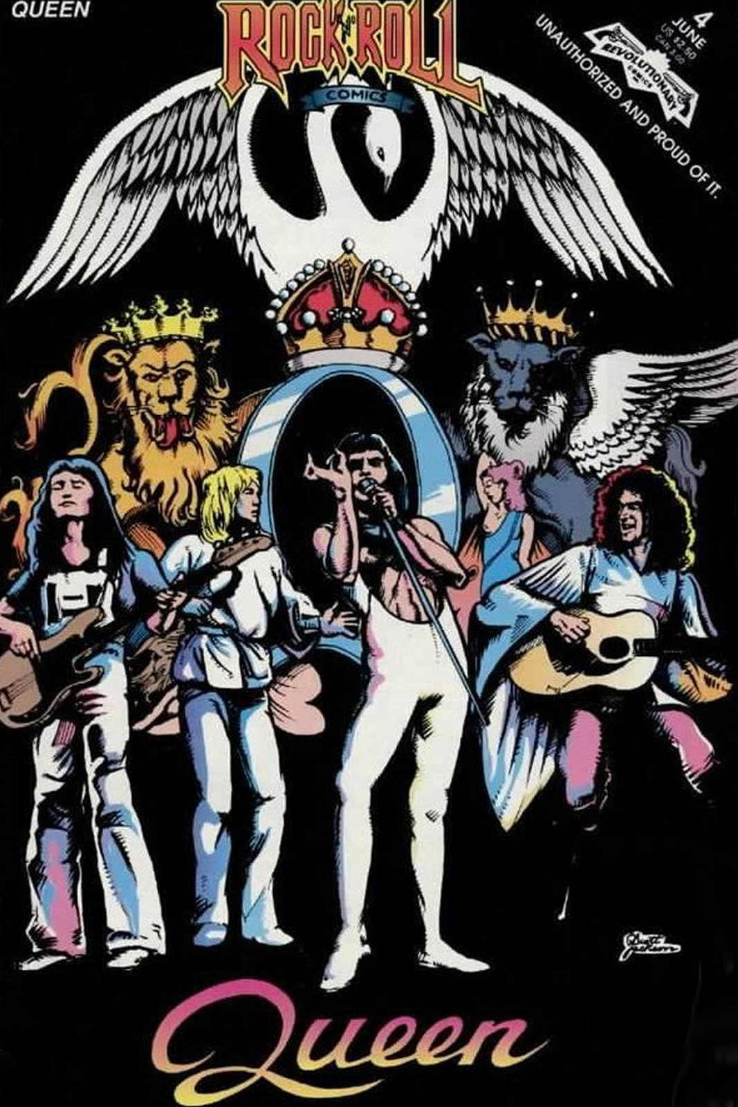 vintage rock n roll comics concert poster queen classic canvas paintings wall posters stickers