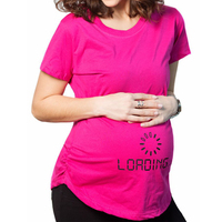 Pregnant Maternity T Shirts Shorts Casual Pregnancy Clothes Funny For Pregnant Women Marternity Clothing Cotton Summer 2017 Y