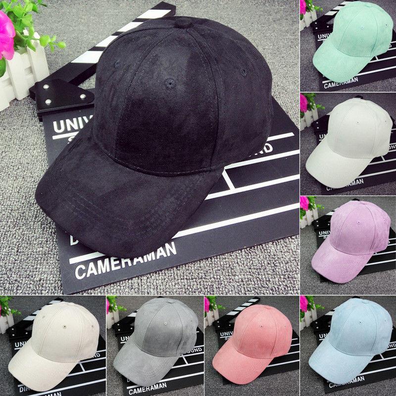Snapback-Visor Baseball Suede Sun-Adjustable-Hat Solid-Caps Women