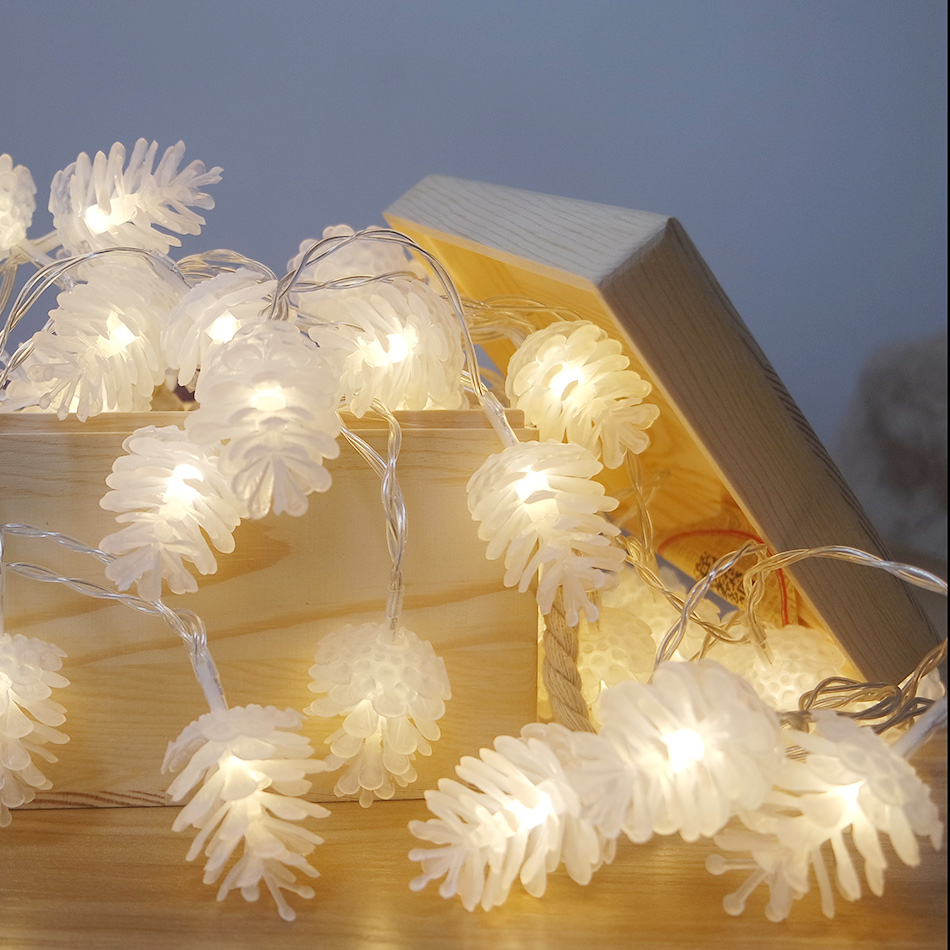 Tragbare batteriebetriebene LED-Lichterkette / Christmas Pinecone Supplies / Party Lights / Dekoration des neuen Jahres für Zuhause