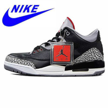 600285cd79d7 Original New Arrival Nike Air Jordan 3 Black Cement AJ3 Men  s Basketball  Shoes Burst