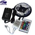 RGB светодиодные ленты 3528 2835 гибкие светодиодные полосы не водонепроницаемый 5 М 300led + 24key ИК-пульт + 12В адаптер питания EU/US/AU/UK