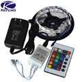 RGB led strip 3528 2835 flexible strip light non waterproof 5M 300led+24key IR remote controller+DC12V power adapter EU/US/AU/UK